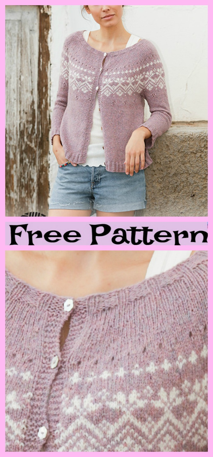 diy4ever-Rosewood Cardigan - Free Pattern