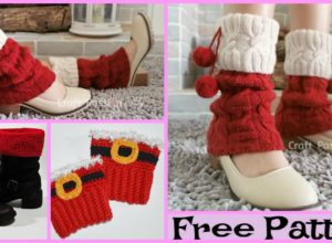Knit Santa Cuff Leg Warmers – Free Pattern