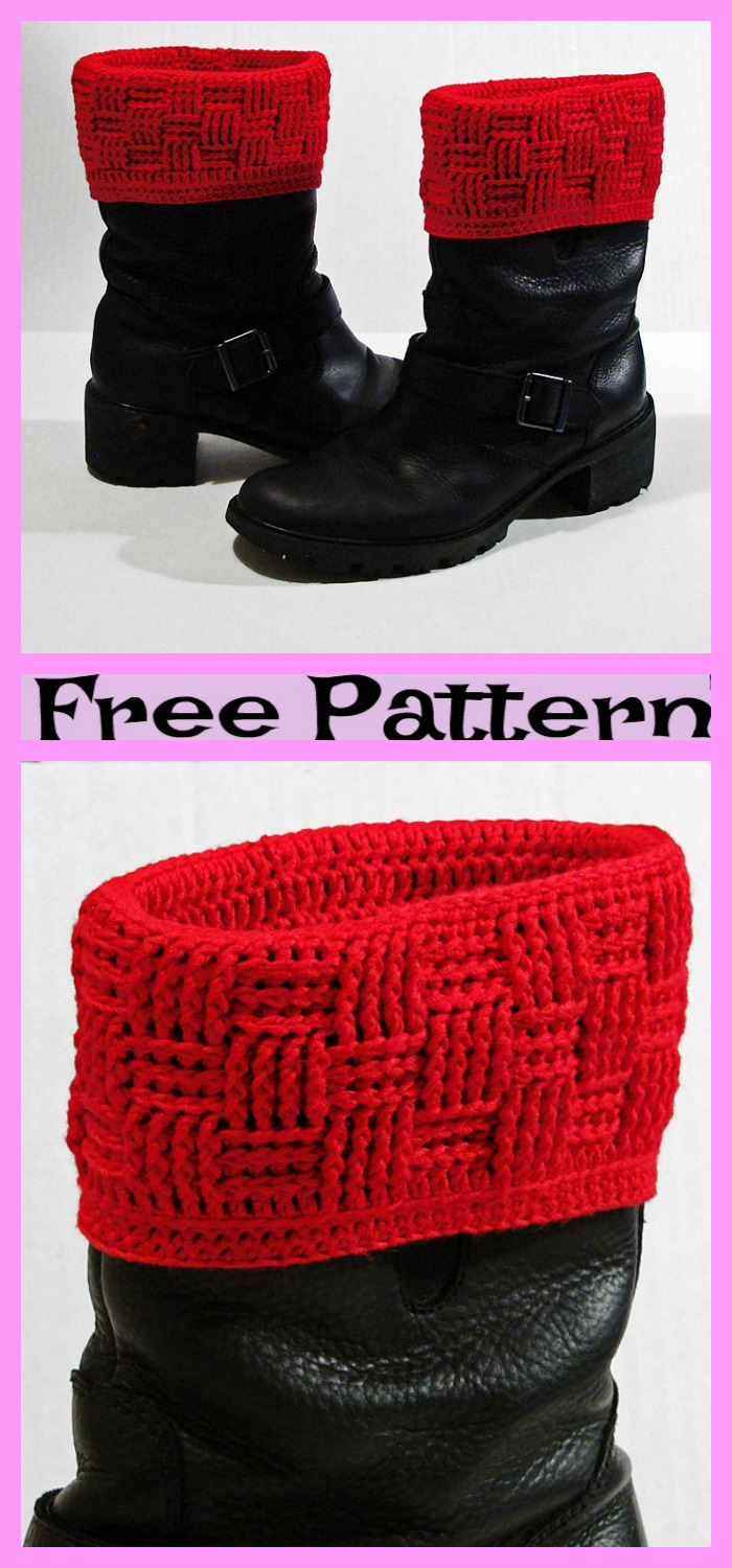 diy4ever-Santa Cuff Leg Warmers - Free Patterns
