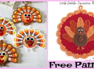 Turkey Coasters  – Free Crochet Pattern