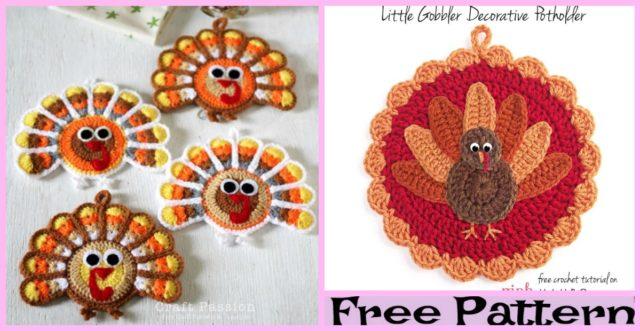 Turkey Coasters  – Free Crochet Pattern