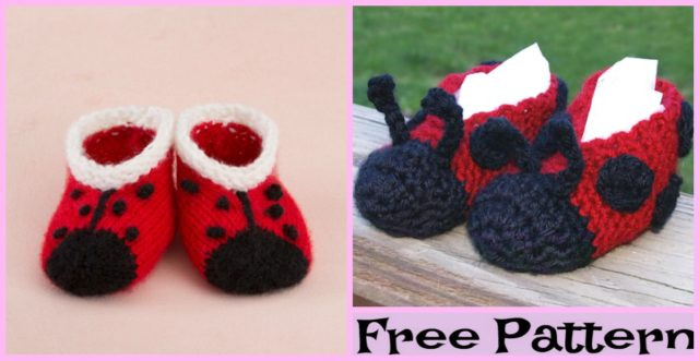 Knit Sweet Lady Bug Booties – Free Pattern