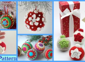 Crochet Christmas Ball Ornaments – Free Patterns