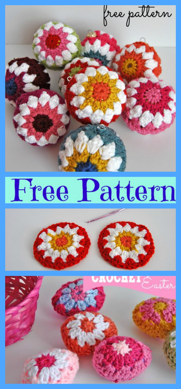 Crochet Christmas Ball Ornaments - Free Patterns