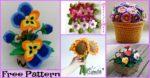 diy4ever-6 Pretty Crochet Flower Bouquet Free Patterns