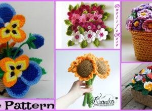 6 Pretty Crochet Flower Bouquet Free Patterns