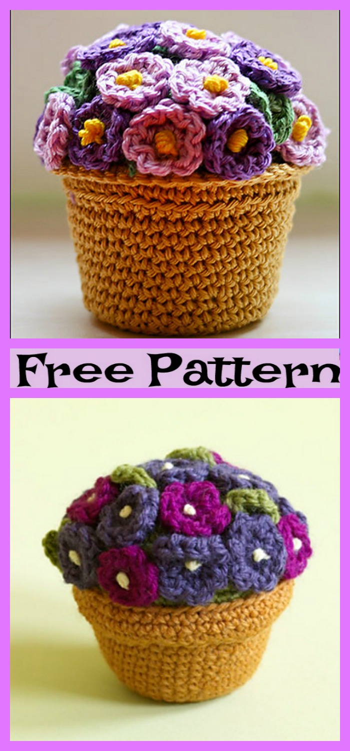 diy4ever-6 Pretty Crochet Flower Bouquet Free Patterns