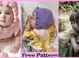 Cute Crochet Baby Bonnets – Free Patterns