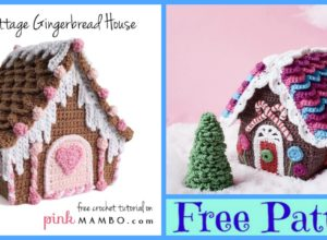 Crochet Candy Cottage Gingerbread Houses – Free Pattern