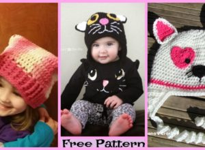Adorable Crochet Cat Hats – Free Patterns