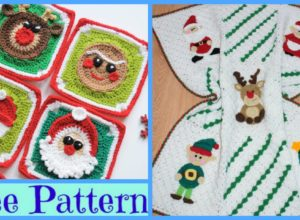 Crochet Christmas Blanket – Free Patterns
