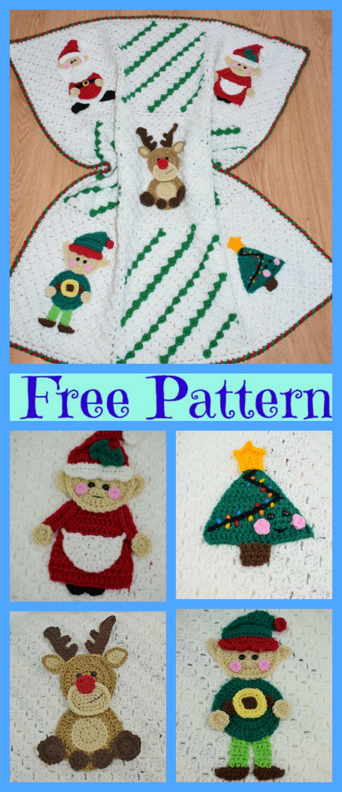 diy4ever-Crochet Christmas Blanket - Free Patterns