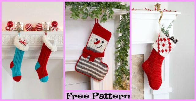 Crochet Christmas Stockings – Free Patterns
