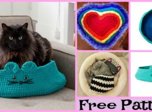 Crochet Comfortable Pet Bed – Free Patterns