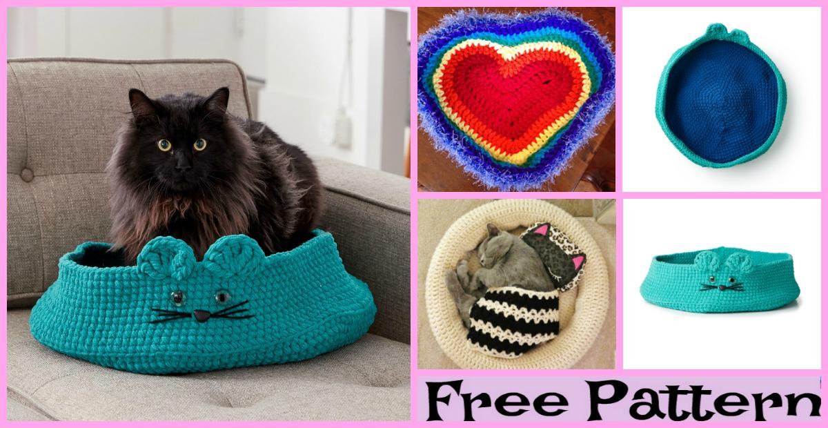 Cozy Crochet Pet Bed - Free Patterns - DIY 4 EVER | 620x1200