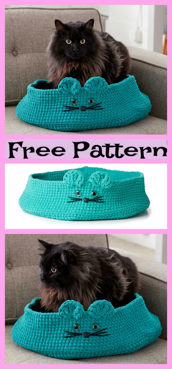 diy4ever-Crochet Comfortable Pet Bed - Free Patterns