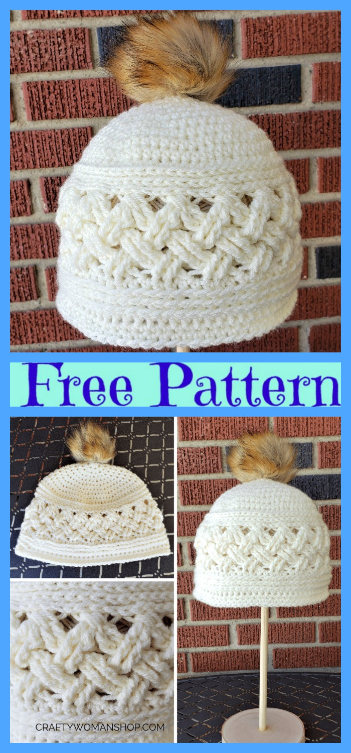 diy4ever-Crochet Cozy Winter Hats - Free Patterns