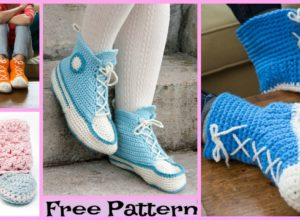 Crochet Hi Top Slipper Socks – Free Patterns