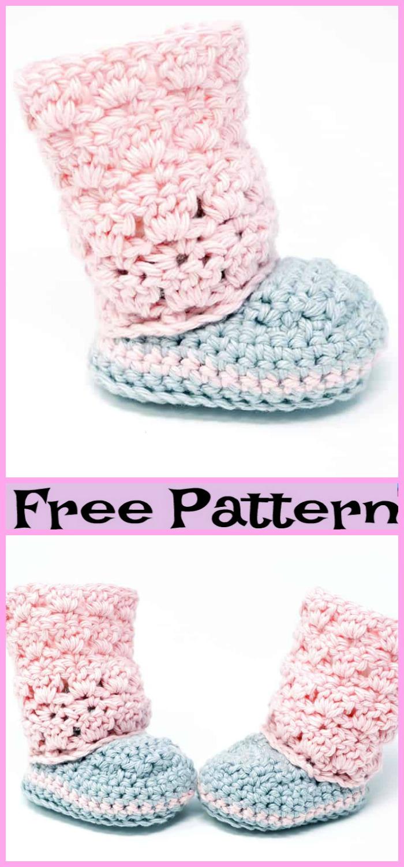 diy4ever-Crochet Hi Top Slipper Socks - Free Patterns