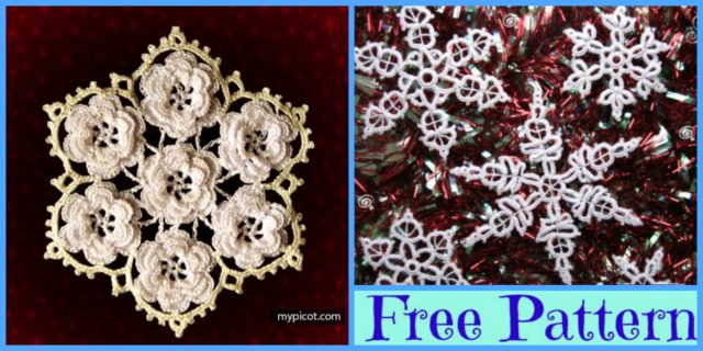 Crochet Lace Snowflakes – Free Patterns