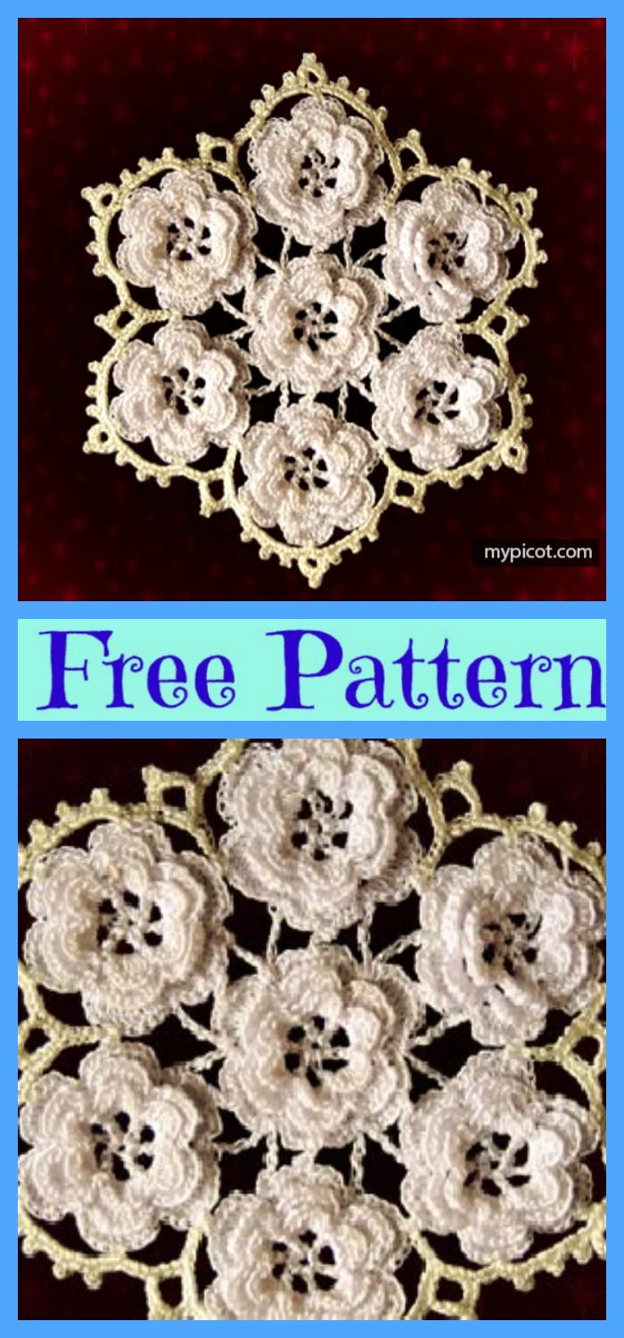 diy4ever-Crochet Lace Snowflakes - Free Patterns
