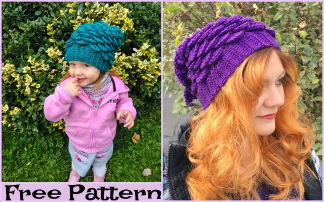 Crochet Mermaid Slouchy Hat – Free Patterns