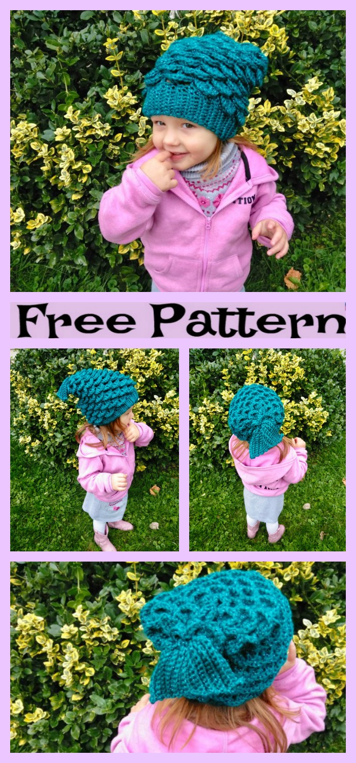 Crochet-Mermaid-Slouchy-Hat-Free-Pattern