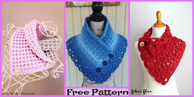 Crochet Ombre Cowled Neckwarmers – Free Patterns