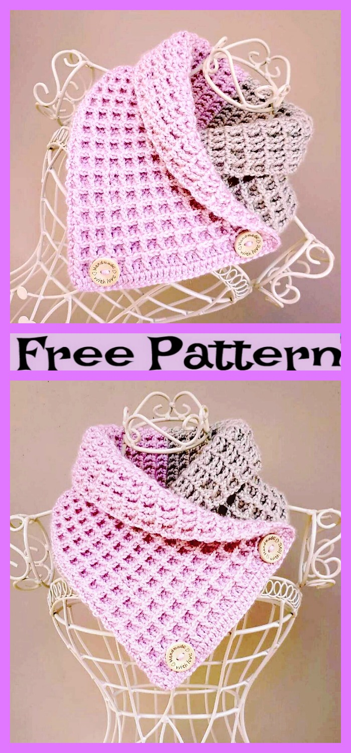 diy4ever-Crochet Ombre Cowled Neckwarmers - Free Patterns