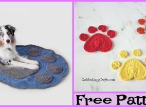 Cute Crochet Paw Blanket – Free Patterns