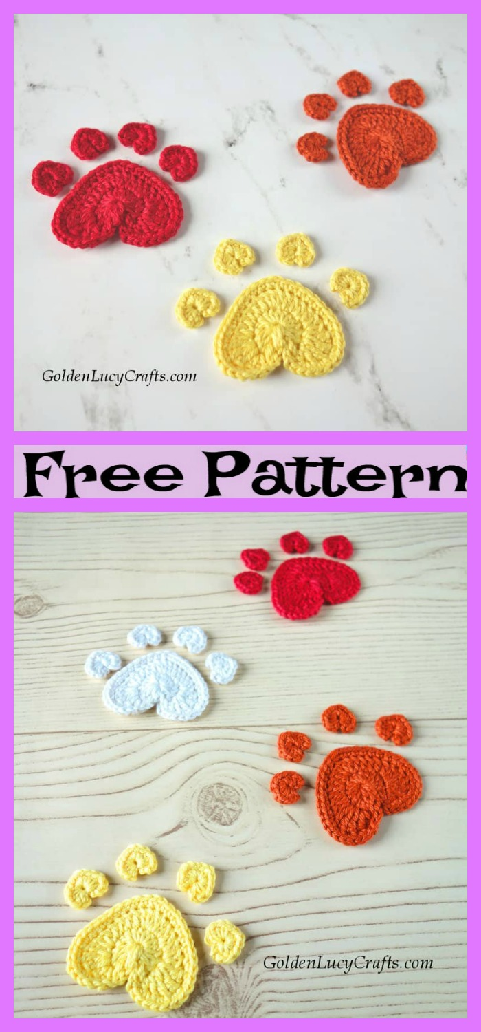 diy4ever-Crochet Paw Blanket - Free Patterns