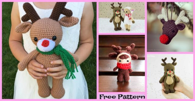 Cute Crochet Reindeer Amigurumi – Free Patterns