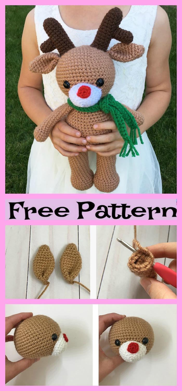 diy4ever-Crochet Reindeer Amigurumi - Free Patterns