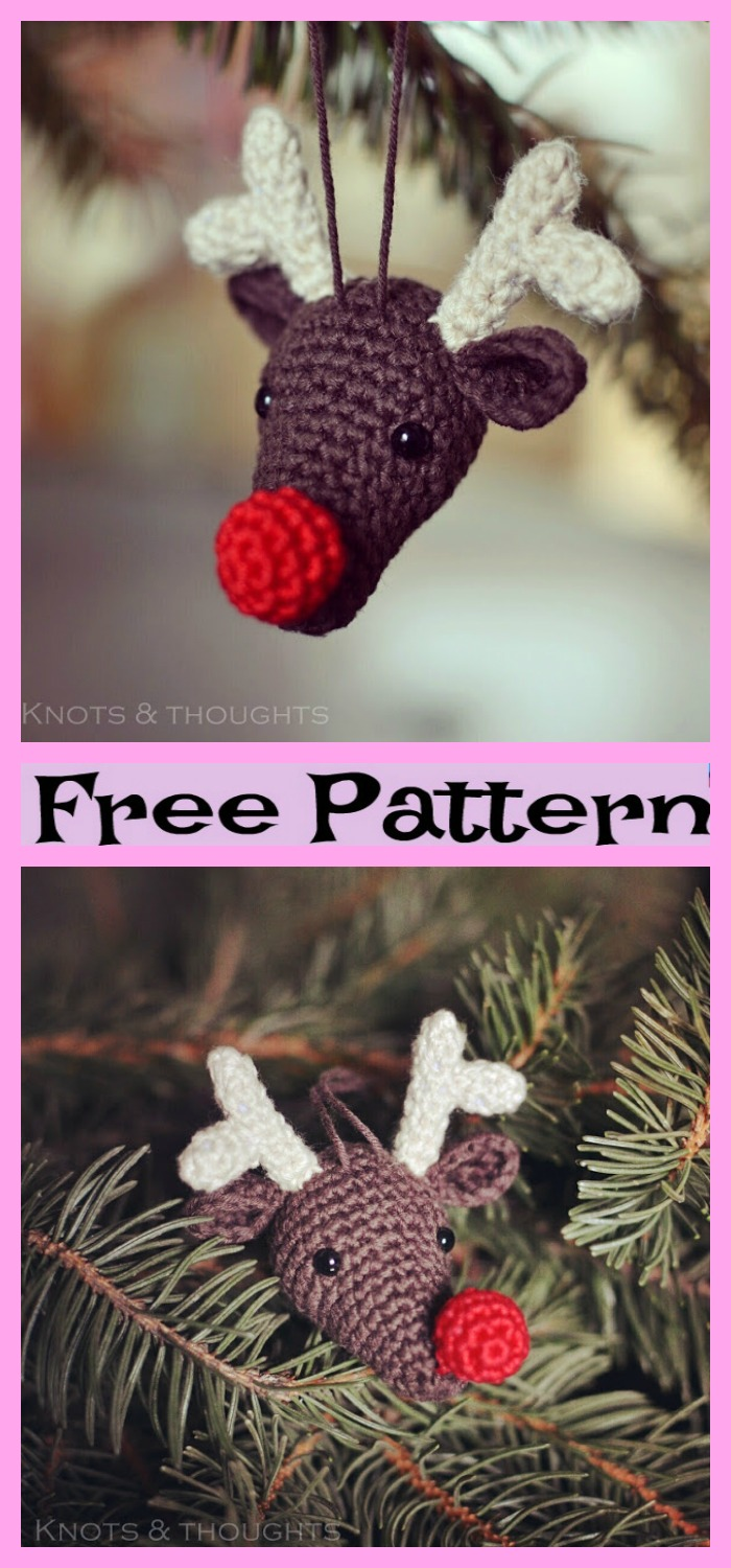 diy4ever-Crochet Reindeer Amigurumi - Free Patterns