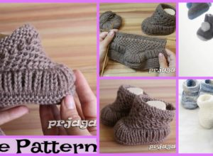 Cute Knit Baby Booties – Free Patterns