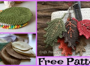 Knit Leafy Washcloth – Free Patterns