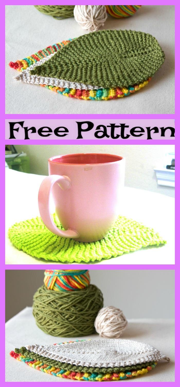 diy4ever-Knit Leafy Washcloth - Free Patterns