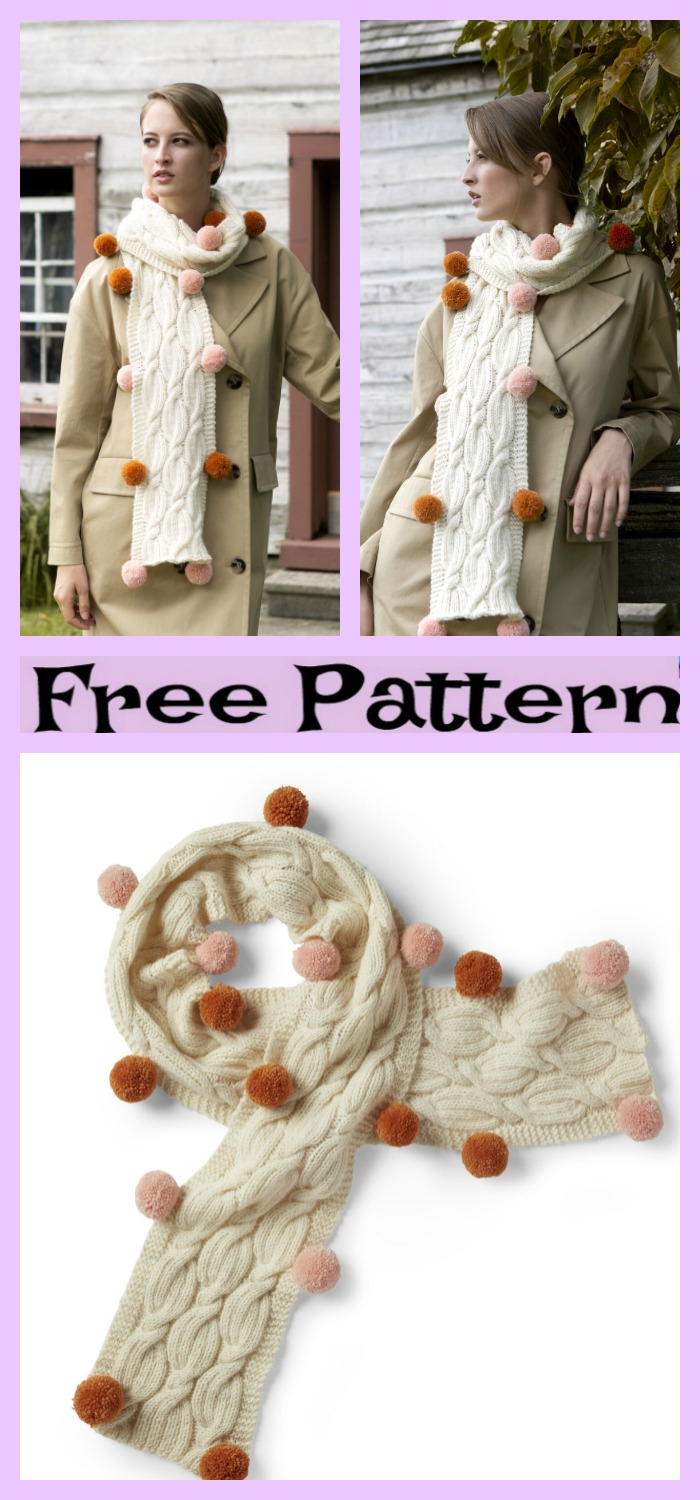 diy4ever-Knitted Cozy Scarves - Free Patterns