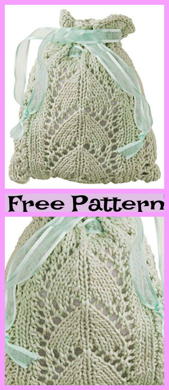 diy4ever-Pretty Knitting Leaf Purse - Free Pattern