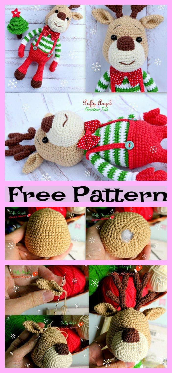 Crochet Deer Amigurumi - Free Patter