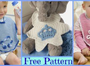 6 Cute Crochet Baby Bibs – Free Patterns