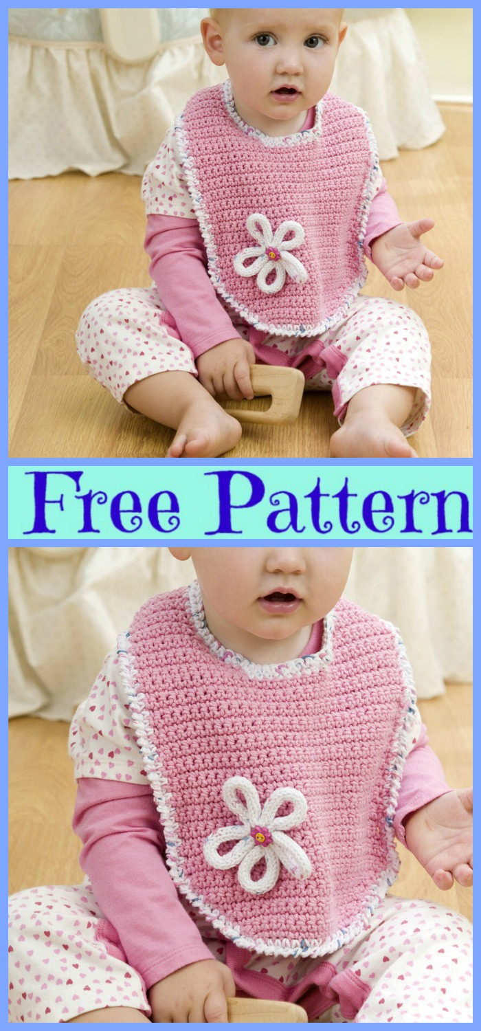 diy4ever-6 Cute Crochet Baby Bibs - Free Patterns