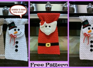 Crochet Christmas Kitchen Towel – Free Patterns