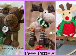 Crochet Christmas Moose Stepan – Free Patterns