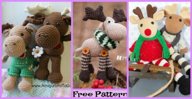 Crochet Christmas Moose Stepan – Free Patterns