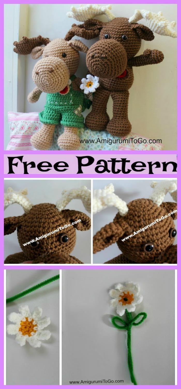 diy4ever-Crochet Christmas Moose Stepan - Free Patterns