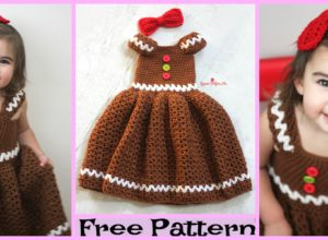 Crochet Gingerbread Girl Dress – Free Pattern