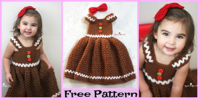 Crochet Gingerbread Girl Dress – Free Pattern