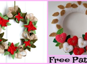 Crochet Holiday Wreath – Free Patterns