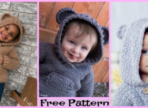Crochet Kids Hibernation Hoodie – Free Patterns